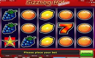 free online casino no deposit sizzling hot play