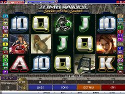 Tomb Raider - Secret of the Sword Online Slot (5 Reels, 30 Paylines)